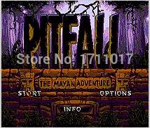 Pitfall The Mayan Adventure 16 bit MD Game Card For Sega Mega Drive For Genesis