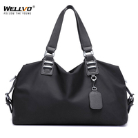 Wellvo Classical Nylon Handbag Woman Solid Shoulder Bag Famous Brand Large Tote Bag Messenger Crossbody Large Capacity XA223WC
