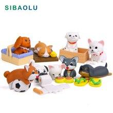 Künstliche Puppy Modell Mini Hund figurine cartoon tier fee garten startseite miniature ornament schreibtisch dekoration DIY zubehör