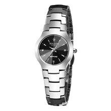 SOLLEN вольфрама стали женские часы бизнес часы водонепроницаемые часы пара календарь минималистский стали кварцевые часы