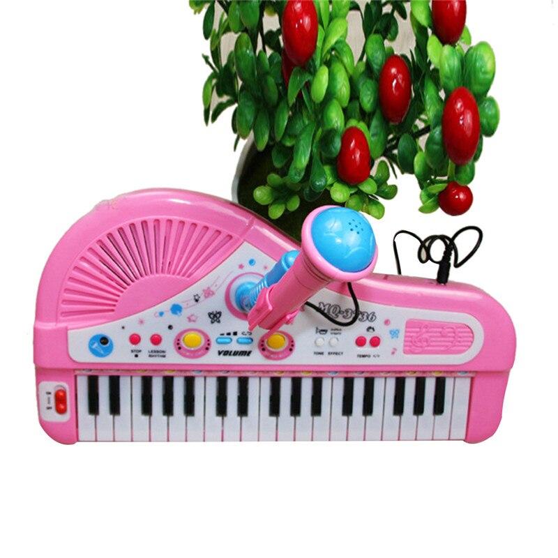 Mini clavier électronique jouet Musical cadeaux d'anniversaire 37 touches Electone enfants jouets éducatifs Microphone Piano bébé jouets enfant