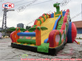 Inflatable snappy dragon slide giant dragon inflatable slide for children