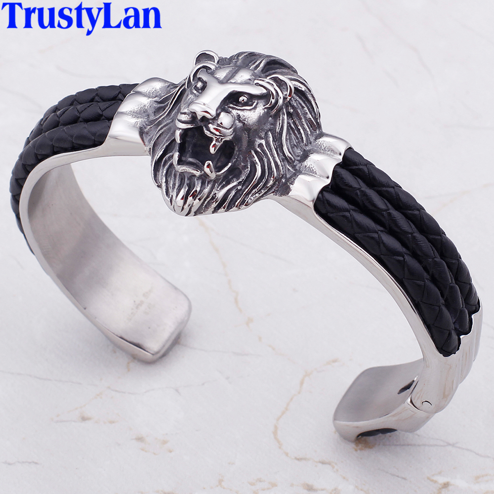 Lion Head Mens Bracelets...
