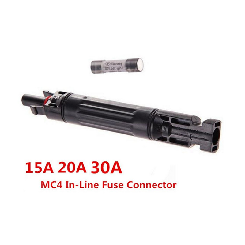 New MC4 In-line Fuse Connector 1000 VDC Male to Fem PV Solar Fuse Holder -- JDH99