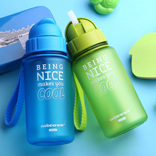 Children`s small kettle with straw Food Grade Slide cover Baby Feeding water bottle Portable no spill Cup My sports bottle
