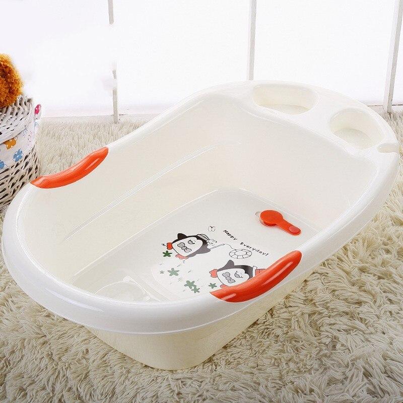 Grand épaississement en plastique bébé baignoire enfant en bas âge baignoire enfant baignoire nouveau-né baignoire