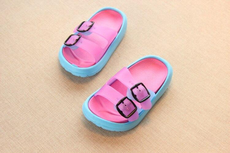 Slippers Kids for Girls Beach Sandals Summer Baby Slippers Boys Flat House Flip Flop Children Non-slip Korea Home Casual Shoes 14