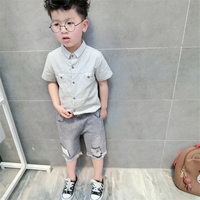 Boys Trousers jeans for boys Clothing Baby Boy 2017 Spring Autumn Casual Cotton Elastic Waist Trousers denim pants for 3-8Y