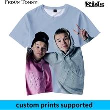 Frdun Tommy 3D Kids T-shirt Marcus and martinus Soft Round Collar Kpop Casual Boys Girls Love Fashion Clothes Custom