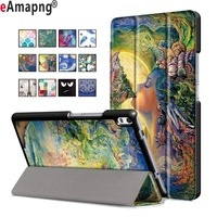 PU Leather Case For Lenovo Tab 4 8 Plus 8 0 Inch Folding Folio Magnetic Sleep