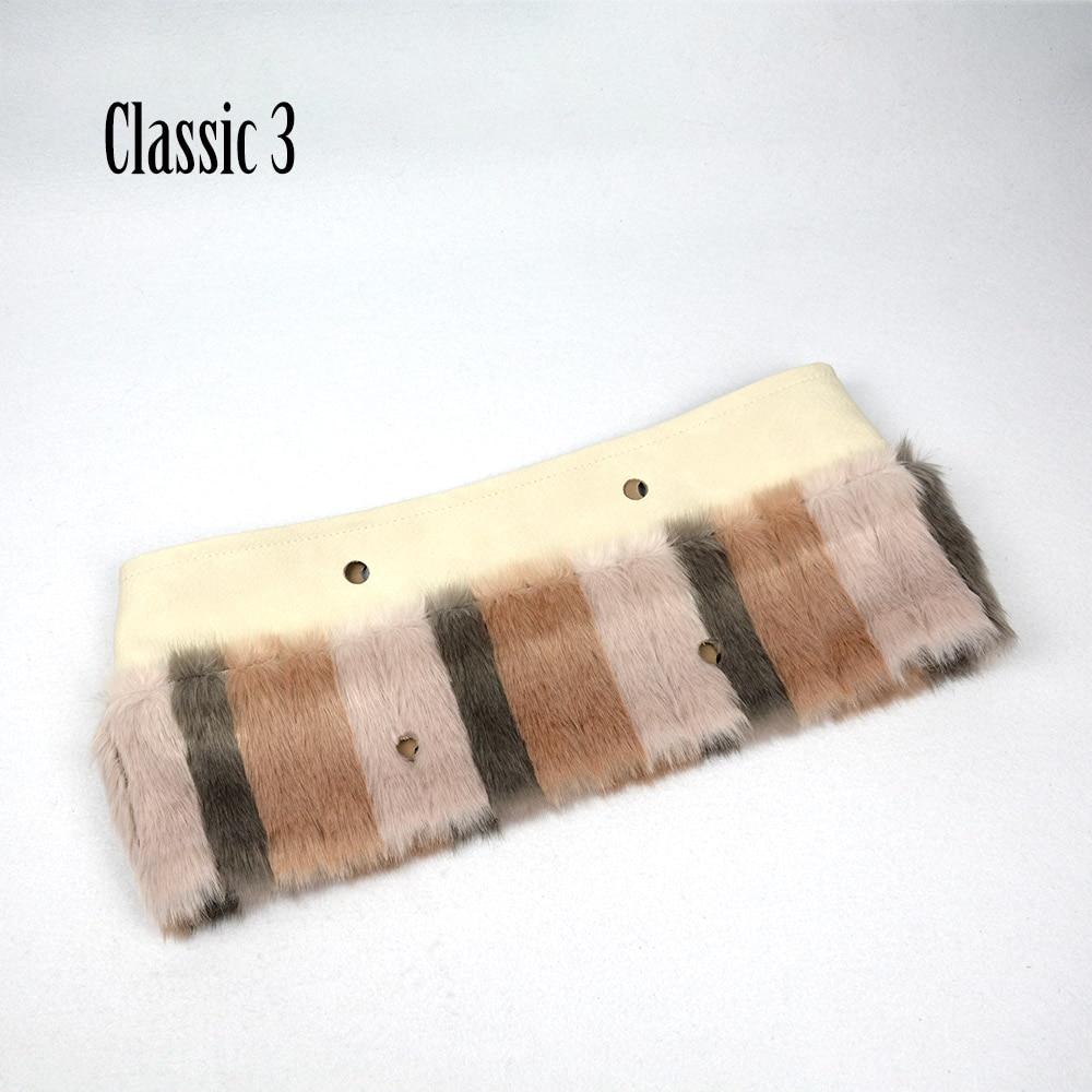 ANLAIBEIER New Women Bag Fabric Plush Trim for O BAG patchwork Plush  Decoration Rabbit Fur Fit ... 36f5a20b5db11
