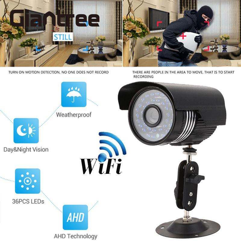 Giantree WiFi HD 1MP IP caméra réseau vidéo sans fil caméra infrarouge vision nocturne bébé moniteur Support TF carte maison coffre-fort