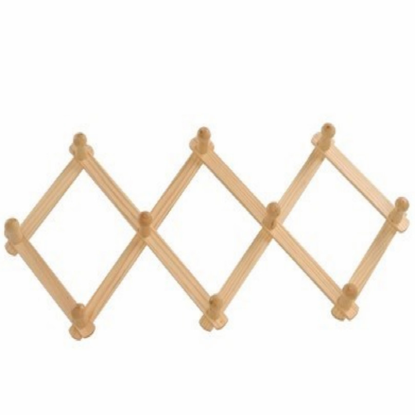 folding wood coat rack clothes rack stand hat clothing rack free shipping-in Coat Racks from Furniture