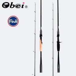 Obei mythos di richiamo di pesca 1.98/2.10/2.40m casting spinning rod con FUJI Guida Anelli esche da pesca mare UL/M/MH/Action Asta di Viaggi