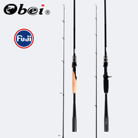 Obei mythos lure fishing 1.98/2.10/2.40m casting spinning rod with FUJI Guide Rings fishing lures sea UL/M/MH/Action Travel Rod