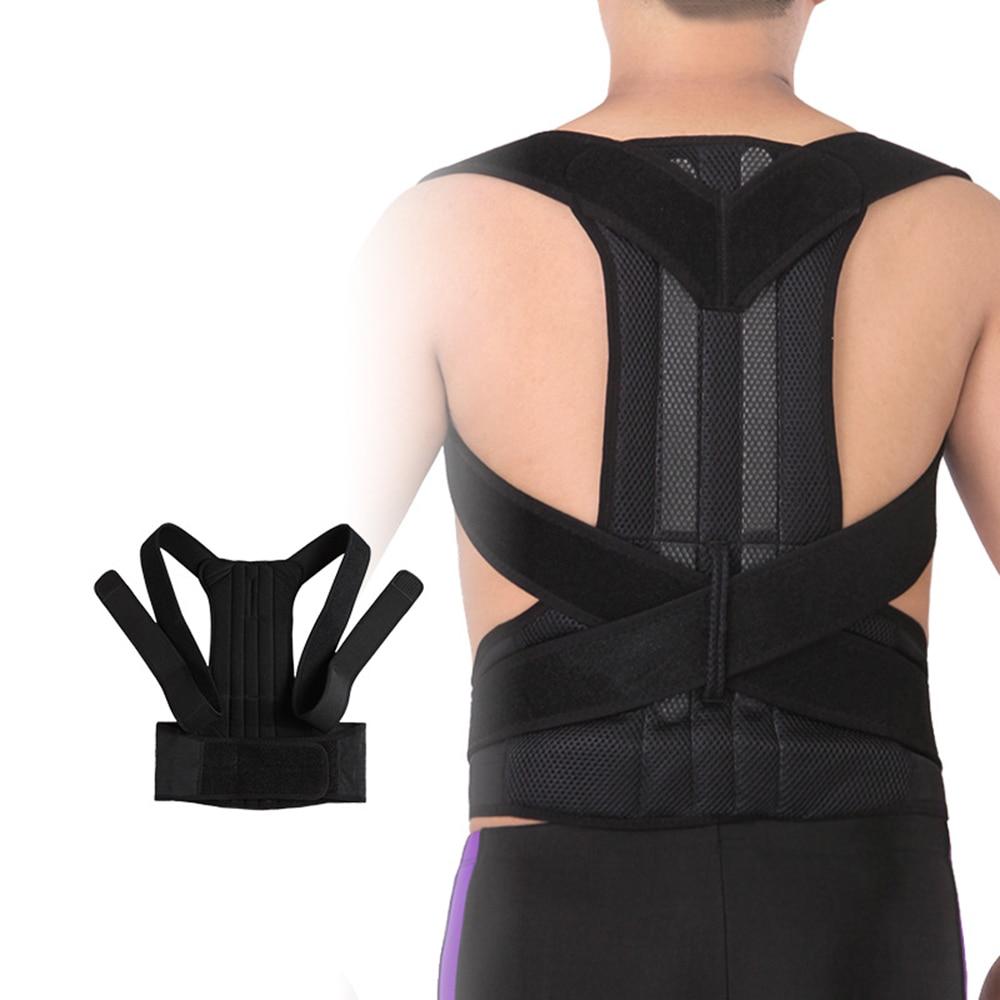 Unisexe dos correcteur ceinture dos soutien sangle haute élastique Nylon Fiber tissu garder le corps droit soins de santé