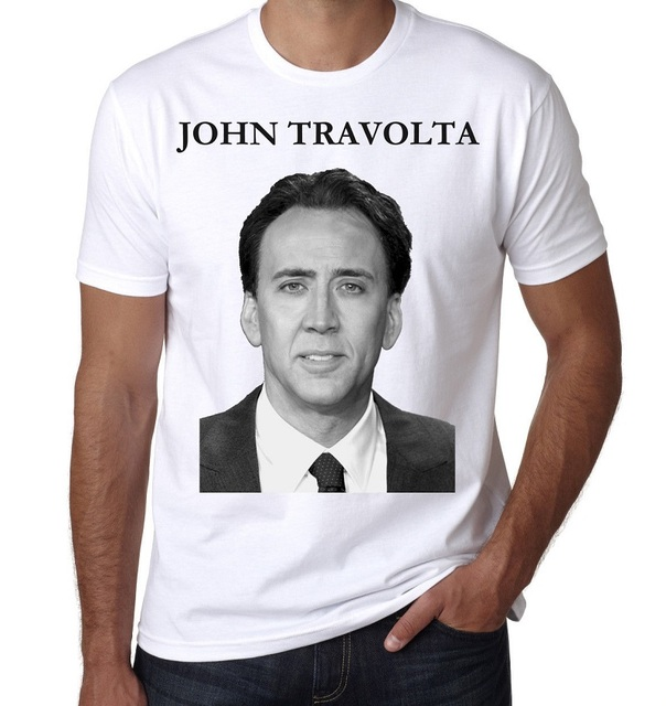9a424000 Fashion Print T Shirt O-Neck Design Short Sleeve Mens John Travolta T Shirts