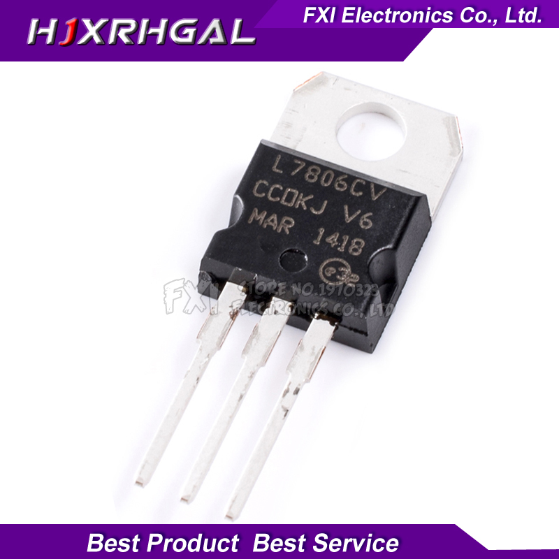 10PCS L7806CV 7806 TO220 L7806 TO-220 LM7806 MC780 New Original