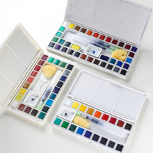 Marie's 48/36/24/18 colors high quality solid watercolor paint drawing pigment