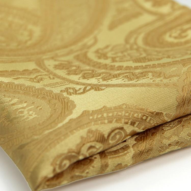 HTB1Er4YJFXXXXaaXVXXq6xXFXXXC - Gold Silk Paisley Pattern Pocket Square