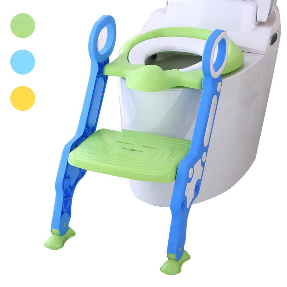 Baby Children Kids Potty Seat with Ladder Cover Toilet Folding Chair Pee Training Urinal Seating @ZJF children baby toilet seat ladder folding chair pee baby toilet safety penico potty ring step ladder stable seat training urinal