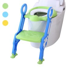 Baby Children Kids Potty Seat with Ladder Cover Toilet Folding Chair Pee Training Urinal Seating @ZJF(China)