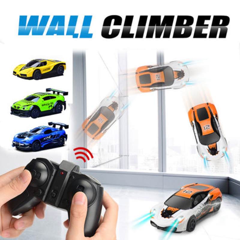 YETAA Wall Climbing Racing RC Car Home Vehicle Radio Control Mini Gravity Remote Control Car Electric Toy For Children Stunt Car