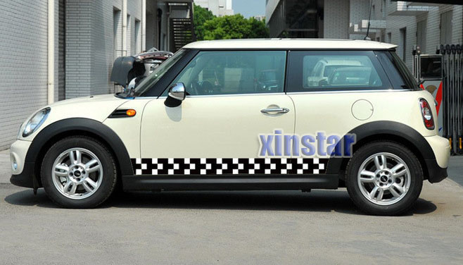 185cm Good quality MINI Cooper Clubman Countryman Paceman Coupe Roadster One S car body sticker