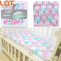 "LAT 100% Cotton Muslin Soft Fitted Crib Sheet 28""X52""(Standard Size Crib) Soft Bedding Sheet Sets Mattress Cover Bedspeard Sheet"
