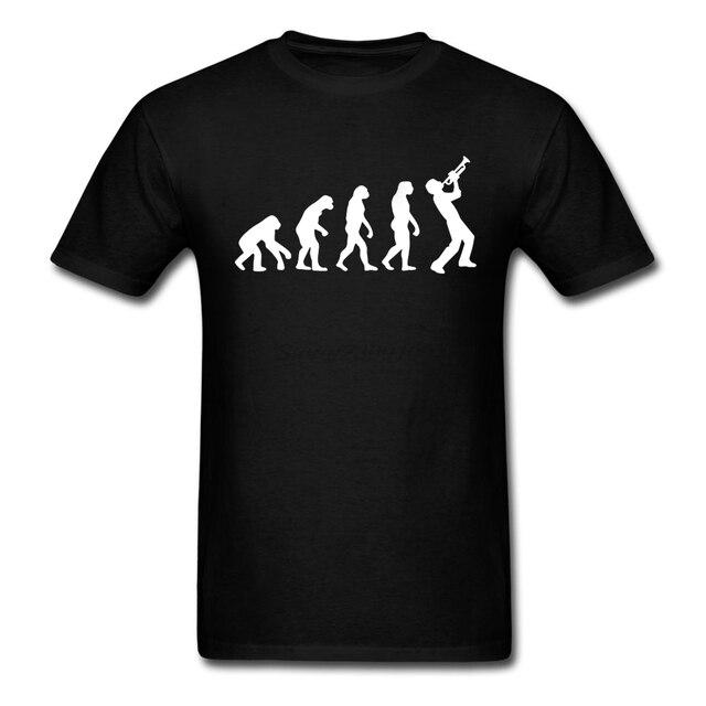 Разработанный С Коротким Рукавом Органический Хлопок Смешно Труба Эволюция Мужчины майка Мужчины майка Дешевые Оптовая