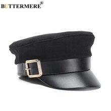 Buttermere chapéu militar das mulheres do exército boné de lã patchwork  preto baker chapéu do menino primavera outono marca mari. 0a39a35c5d8