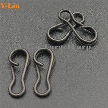 50pcs/lot Carp fishing multi clips quick change connector matte black easy link swivels snap  terminal tackle rolling swivels
