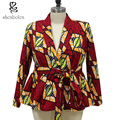 Мода печатных куртка женская Африка стиль dashiki пальто леди традиционный батик prining хлопок красивый пальто бесплатная доставка