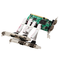 PCI To 6 Port Serial RS232 DB9 Pin COM Expansion Card Chipset For Moschip MCS9865