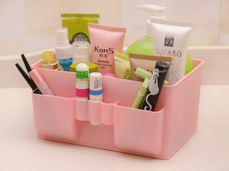 Candy Color Desktop Pen Makeup Cosmetic Sundries Storage Organizer Box for Women Supply Organizer for Office, Home,School