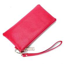 KANDRA Personalized Initial Letter Genuine Leather Customize Antitheft Wallet Clutch Bag Phone Wristlet RFID Purse Card Holder