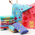 Venta caliente 100% algodón de tres capas de gasa suave estupenda mano toallas towel adultos niños cartoon face towel absorbente baño del bebé towel