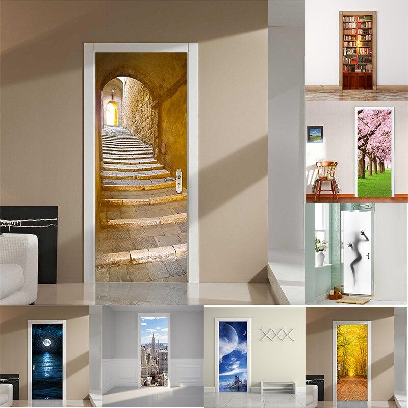 unidset escalones de piedra etiqueta puerta de estilo europeo dormitorio etiqueta de la