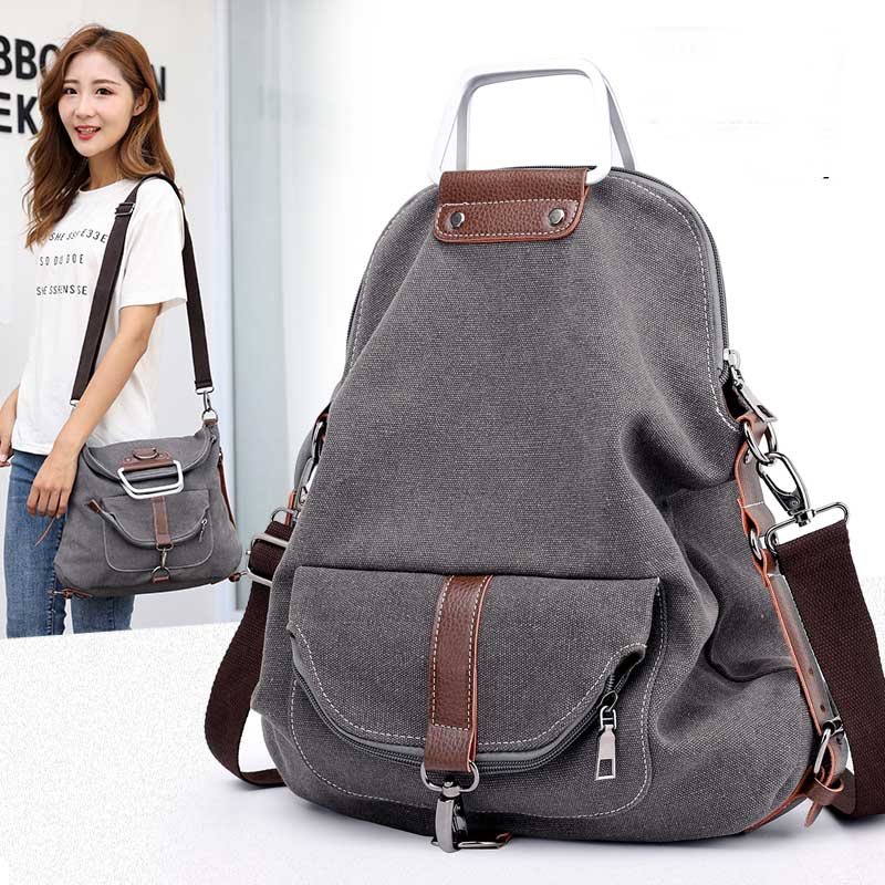 Brand Women  Handbags Female Casual Canvas Bags Tote Shoulder Messenger Bag Ladies Bolsos