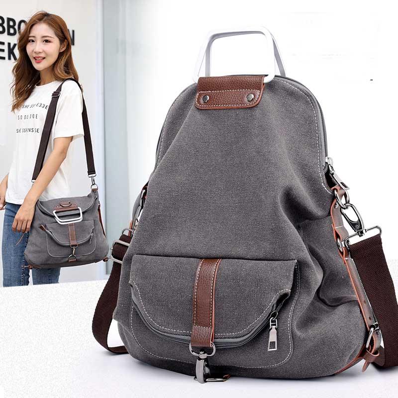 KVKY Brand Women High Quality Handbags Female Casual Canvas Bags Tote Shoulder Messenger Bag Ladies Bolsos New Fashion