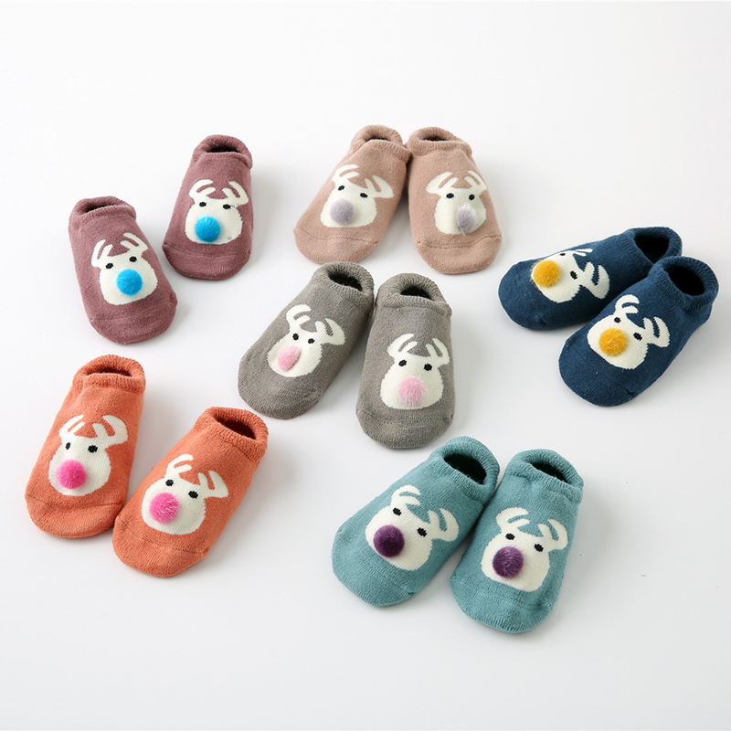 03c634dfbd0 Best buy 3pairs lot Baby Floor Socks cotton Newborn Baby Girl Socks Kids  Winter Thicken Socks Indoor Floor Baby Toddler Non Slip Booties online cheap