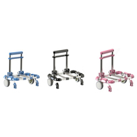 Portable Stainless Steel Hand Luggage Cart Retractable Folding Supermarket Trolley Lightweight Trailer Shopping Trolley
