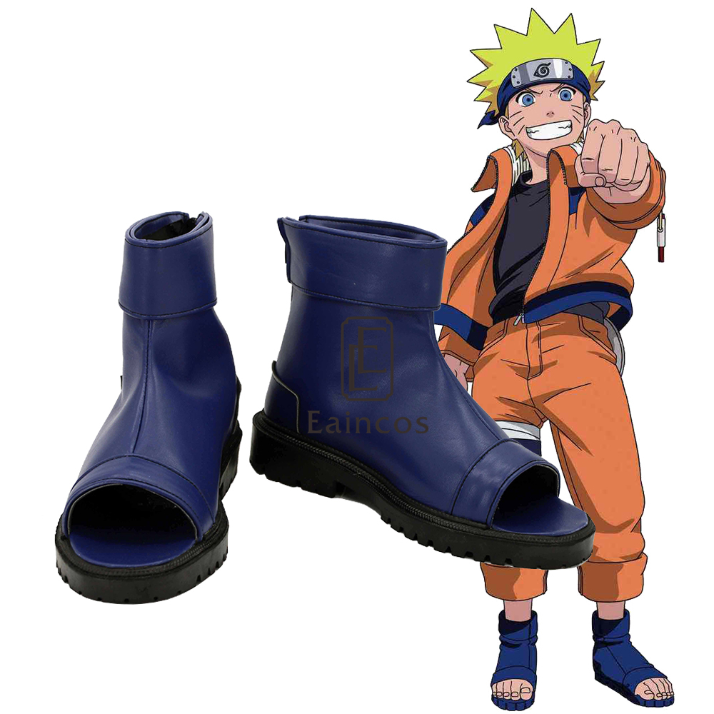 Naruto Uchiha Sasuke Haruno Sakura Ninja Cosplay Blue Shoes Costume
