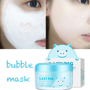 100g Pig bubble mask clay carbonated mask face korean cosmetics mud face mask Foam Skin Care Oxygen Facial Masks
