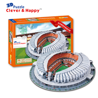3D puzzle DIY toy paper building model China sport football soccer ShanDong JiNan Stadium assemble game hand work kid gift set