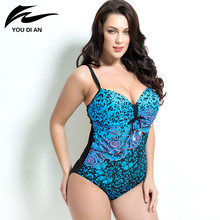 Summer Style Womens Plus Size One Piece Swimsuit