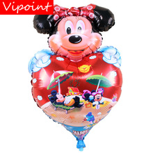 VIPOINT PARTY 56x96cm red bowknot love heart mouse foil ballon wedding event christmas halloween festival birthday party HY-288