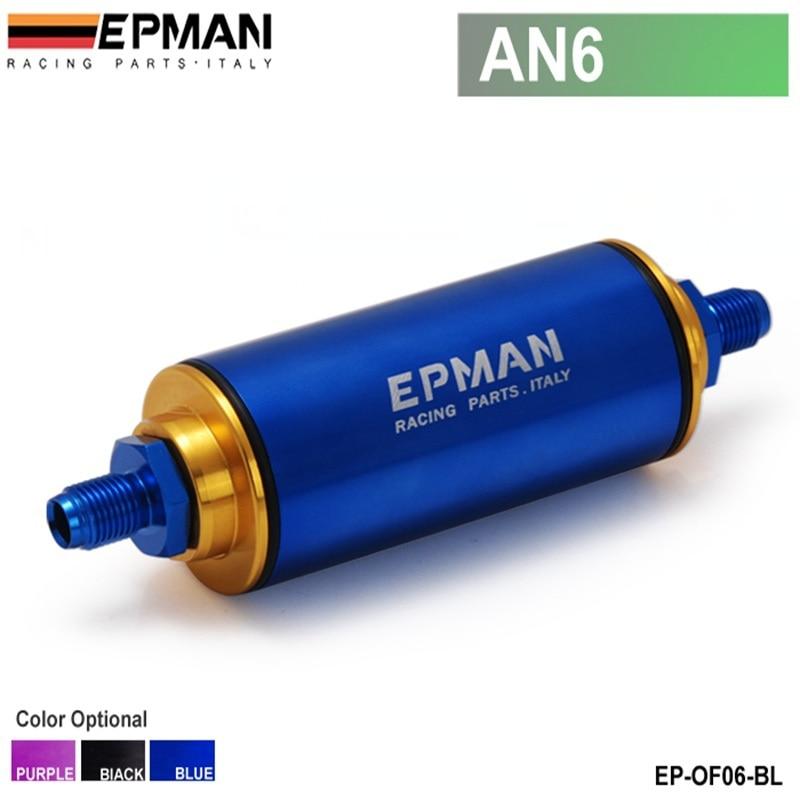 Prix pour Epman Racing Bleu AN6 Salut-Débit Motorsport/Rallye/Racing Alliage Filtre À Carburant Avec filtre En Acier EP-OF06-BL
