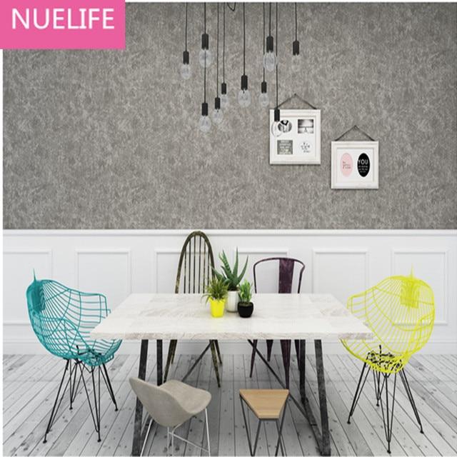 US $30.25 11% OFF|0,53x9,5 mt Grau Zement Muster Solide Farben Vliesstoffe  Tapeten Restaurant Bekleidungsgeschäft Wohnzimmer Schlafzimmer Tapete in ...