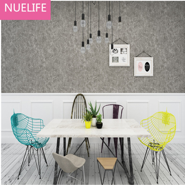 0 53x9 5 Mt Grau Zement Muster Solide Farben Vliesstoffe Tapeten